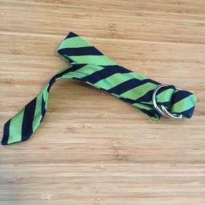 J. Crew Blue & Green Silk Tie Belt Size S/M